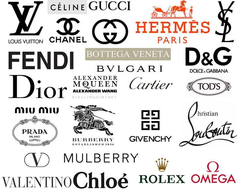 Luxury fashion brands logos